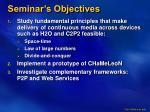 seminar s objectives