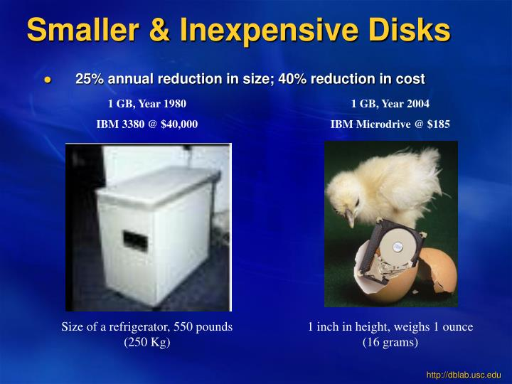 Smaller & Inexpensive Disks