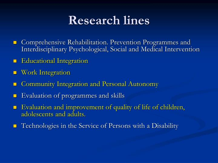 Research lines