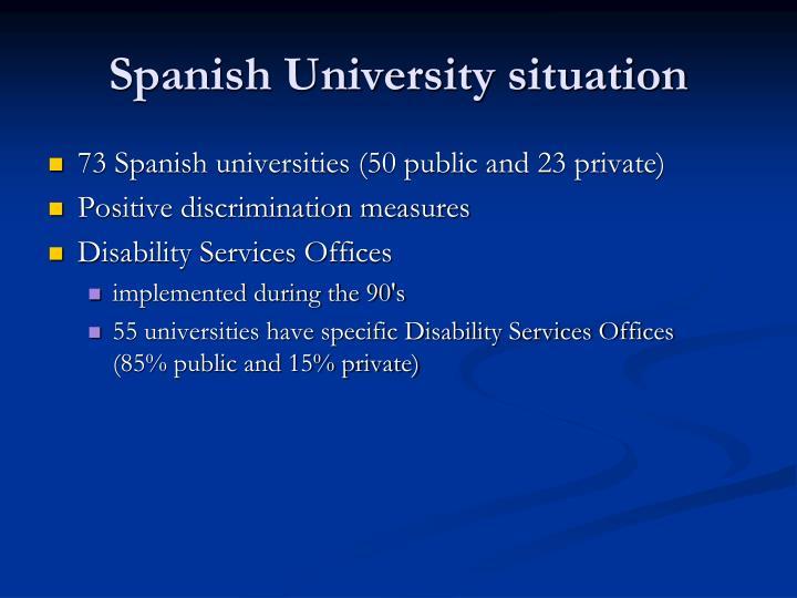 Spanish University situation