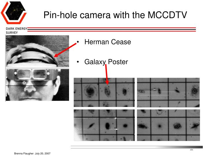 Pin-hole camera with the MCCDTV