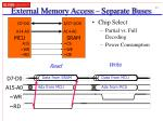 external memory access separate buses