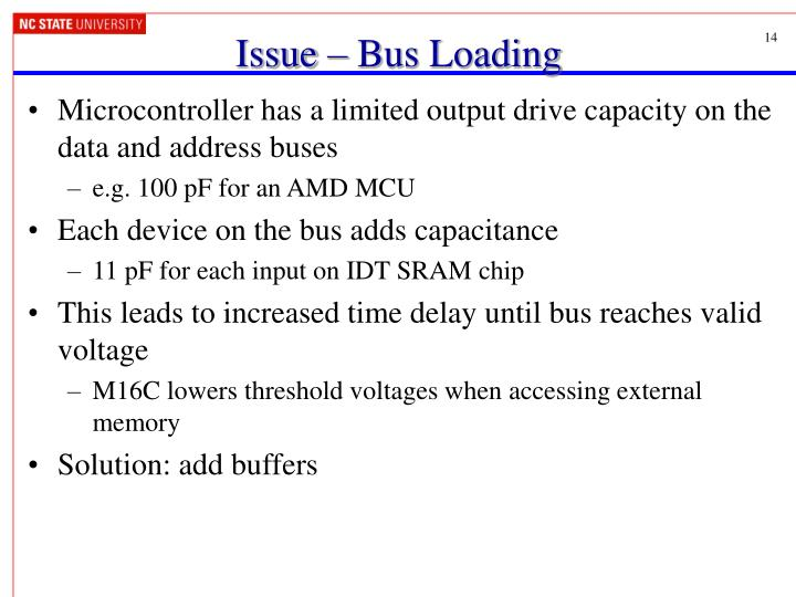 Issue – Bus Loading