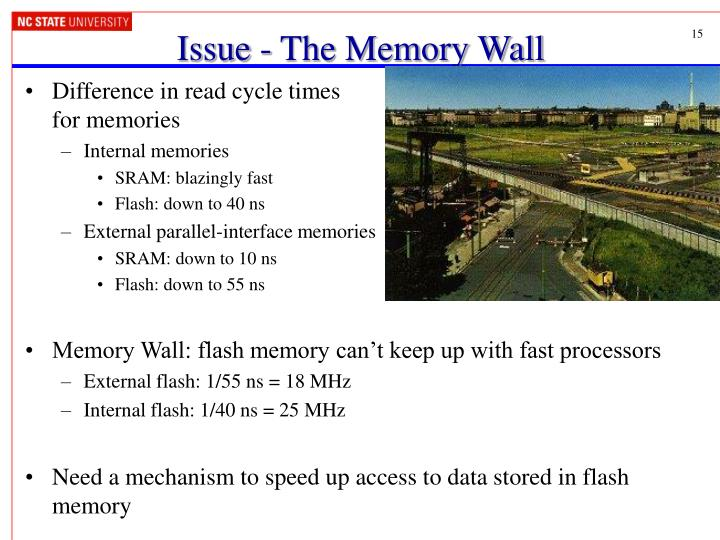 Issue - The Memory Wall