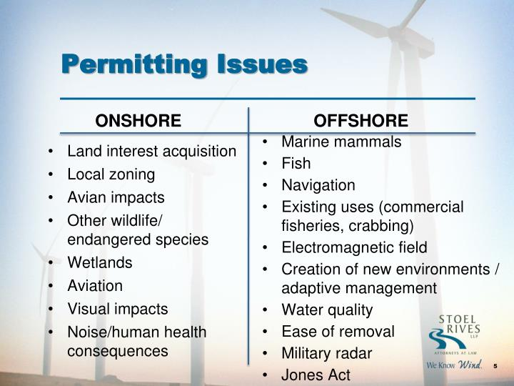 Permitting Issues