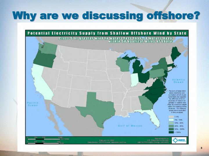 Why are we discussing offshore