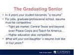 the graduating senior