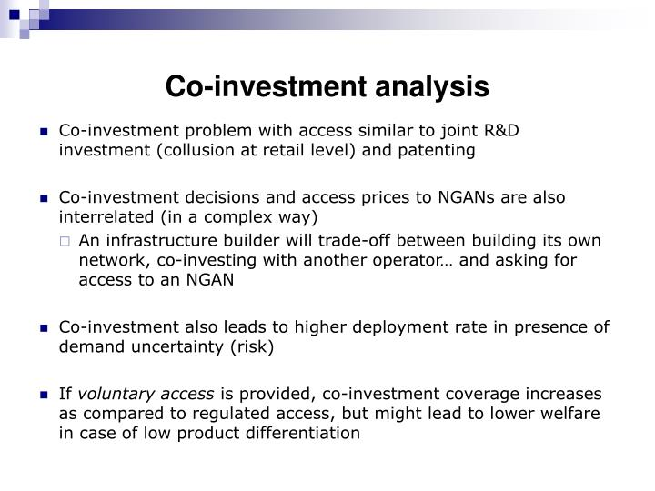 Co-investment analysis