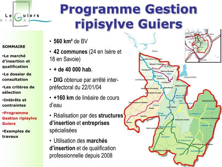 Programme Gestion ripisylve Guiers