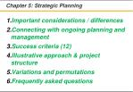 chapter 5 strategic planning