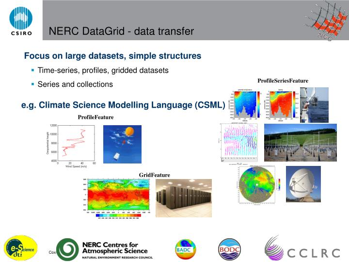 Nerc datagrid data transfer