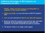 additional advantages to bgs suppliers are proposed by the edcs