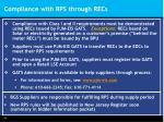 compliance with rps through recs
