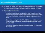 proposed changes to rps