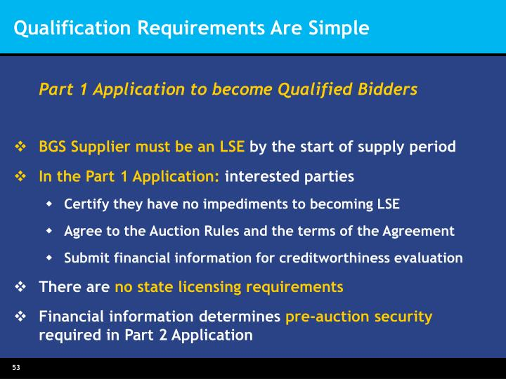 Qualification Requirements Are Simple