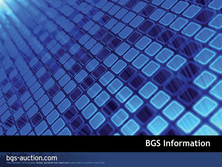 BGS Information