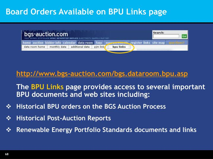 Board Orders Available on BPU Links page