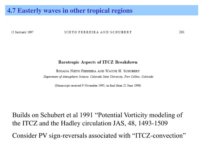 4.7 Easterly waves in other tropical regions