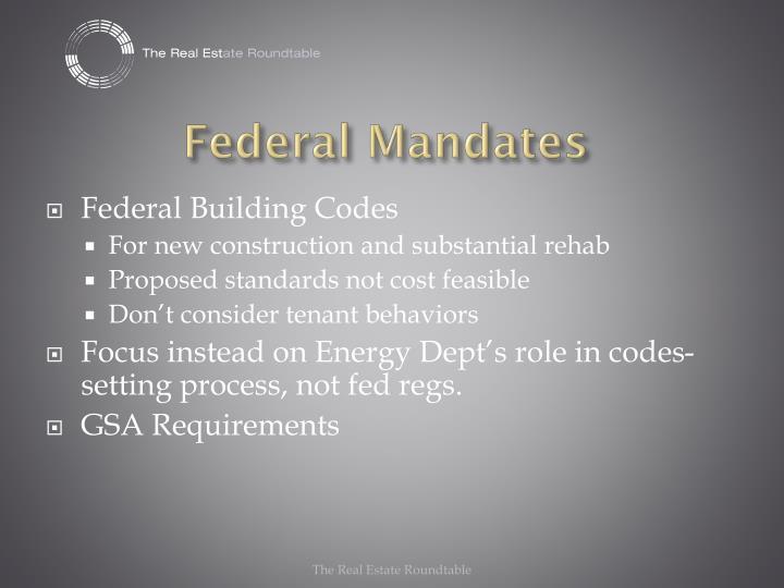 Federal Mandates
