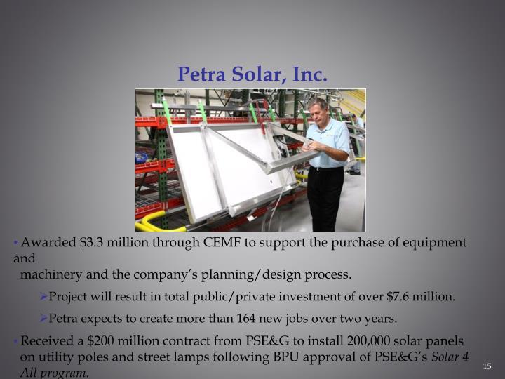 Petra Solar, Inc.
