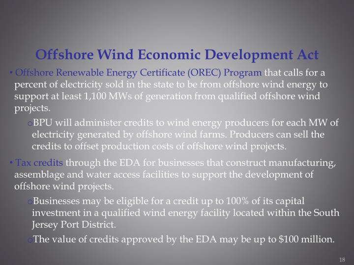 Offshore Wind Economic Development Act