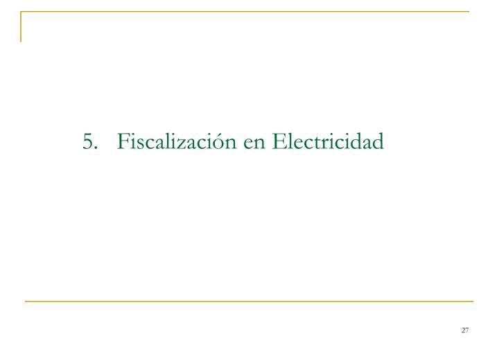 5.   Fiscalización en Electricidad