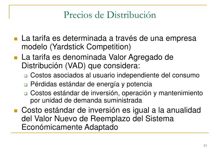 Precios de Distribución