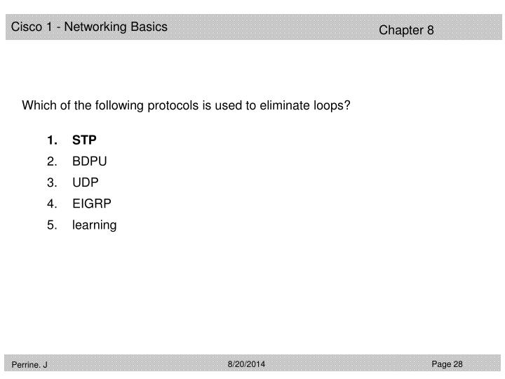 Which of the following protocols is used to eliminate loops?
