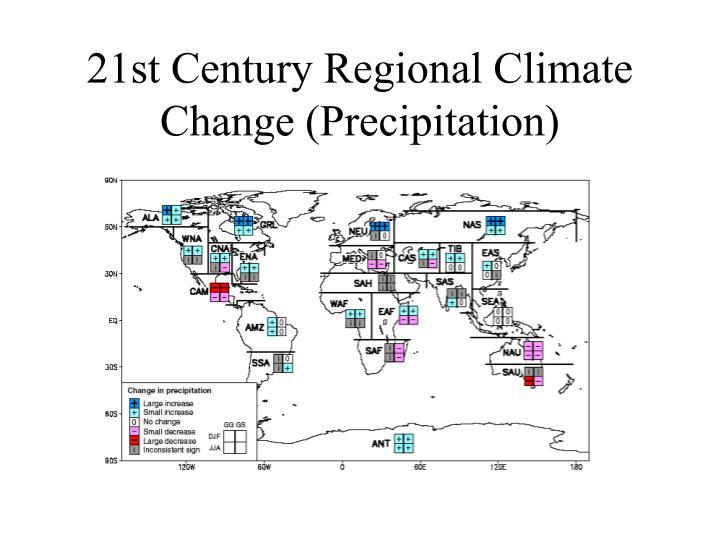 21st Century Regional Climate Change (Precipitation)