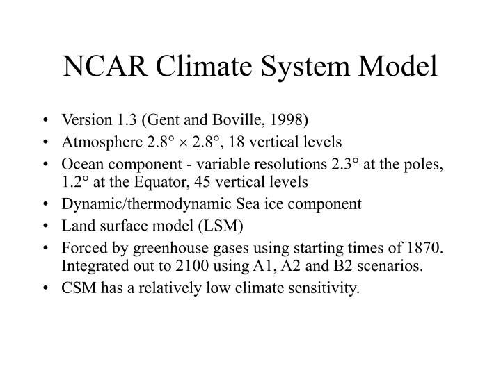 NCAR Climate System Model