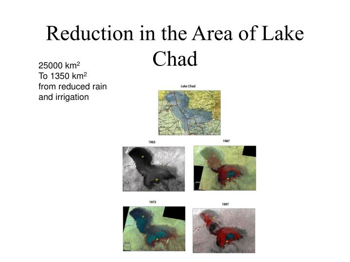Reduction in the Area of Lake Chad