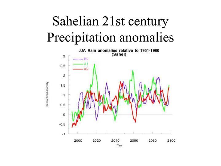 Sahelian 21st century Precipitation anomalies
