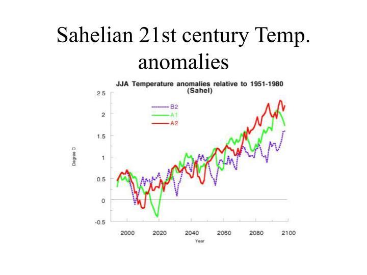 Sahelian 21st century Temp. anomalies