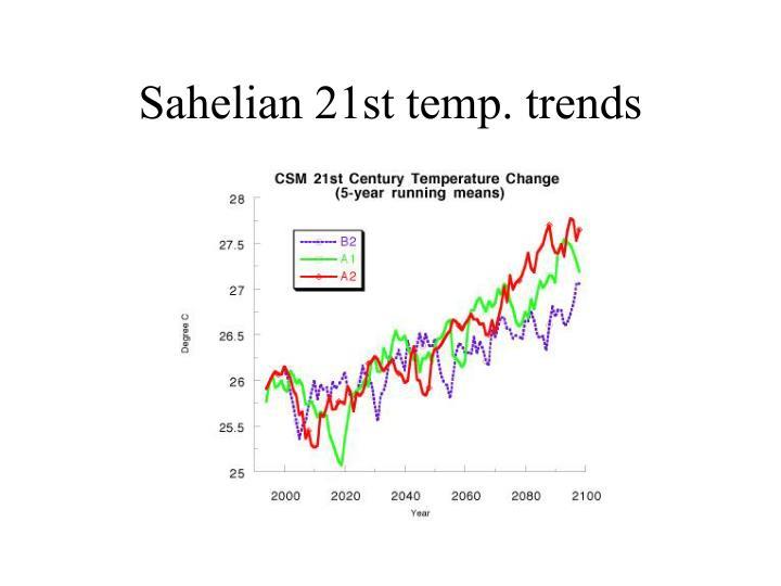 Sahelian 21st temp. trends