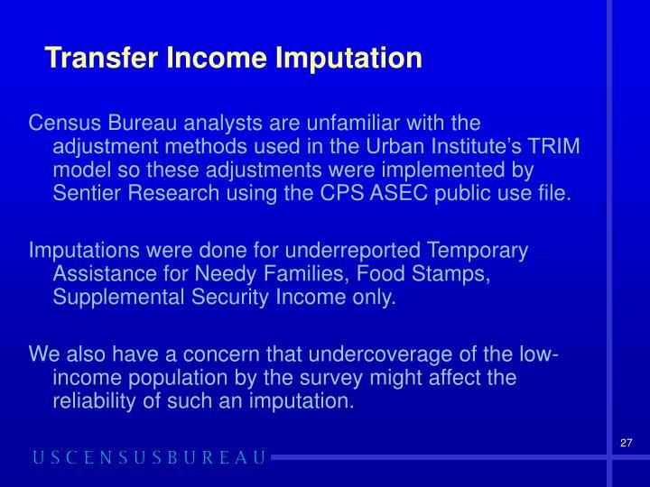 Transfer Income Imputation