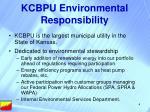 kcbpu environmental responsibility