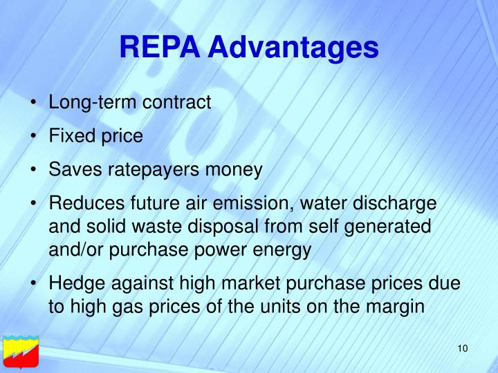 REPA Advantages