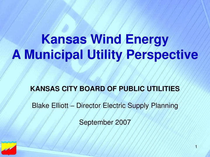 Kansas Wind Energy
