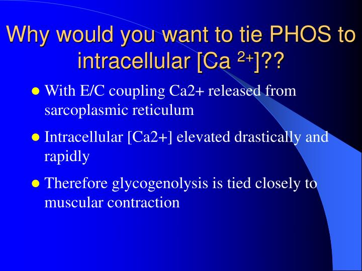 Why would you want to tie PHOS to intracellular [Ca
