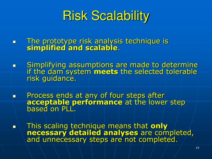 Risk Scalability
