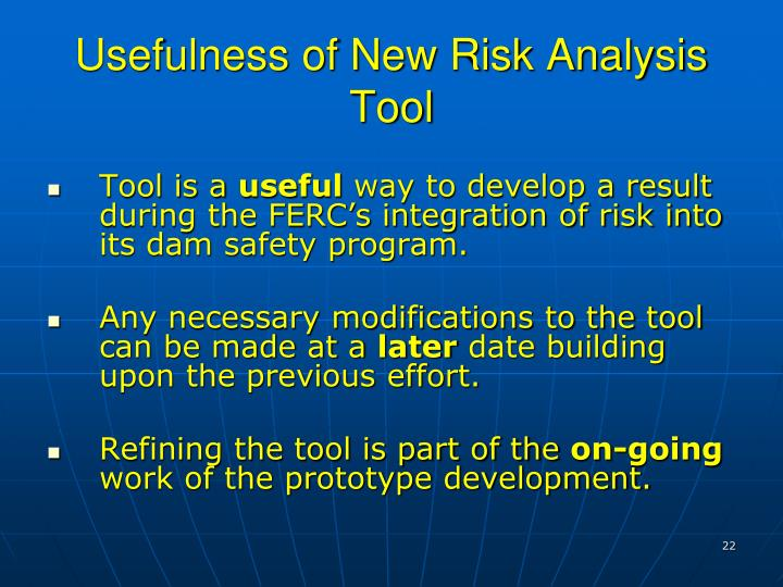 Usefulness of New Risk Analysis Tool