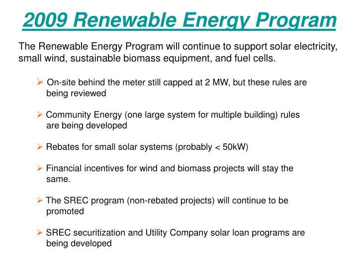 2009 Renewable Energy Program
