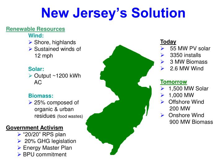 New Jersey's Solution