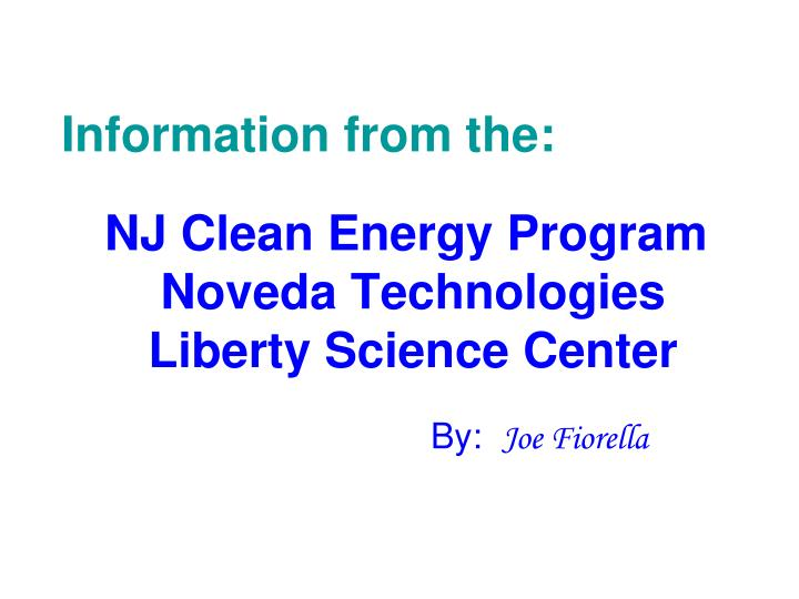 nj clean energy program noveda technologies liberty science center