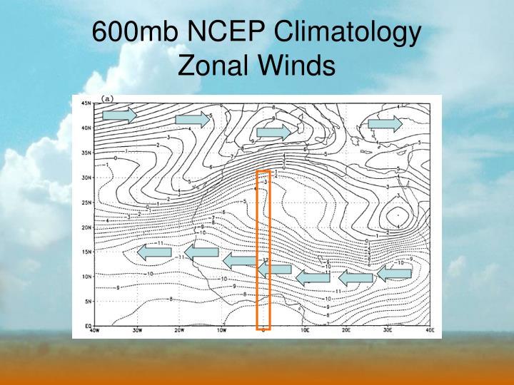 600mb NCEP Climatology