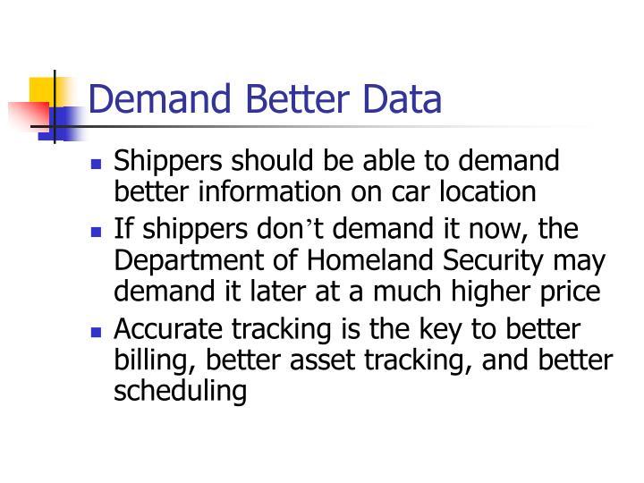 Demand Better Data