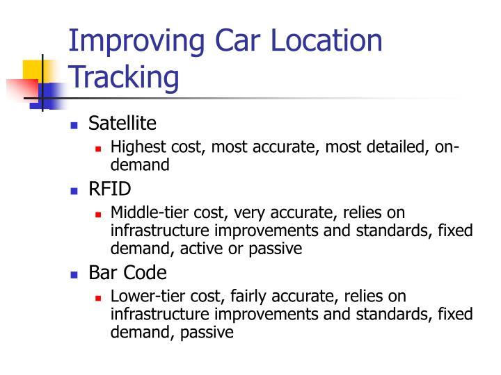 Improving Car Location Tracking