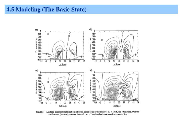 4.5 Modeling (The Basic State)