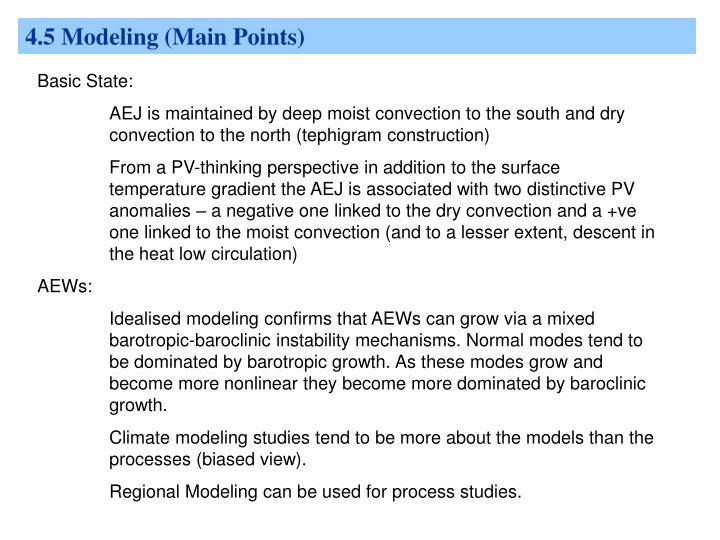 4.5 Modeling (Main Points)