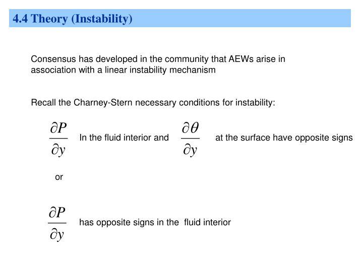 4.4 Theory (Instability)